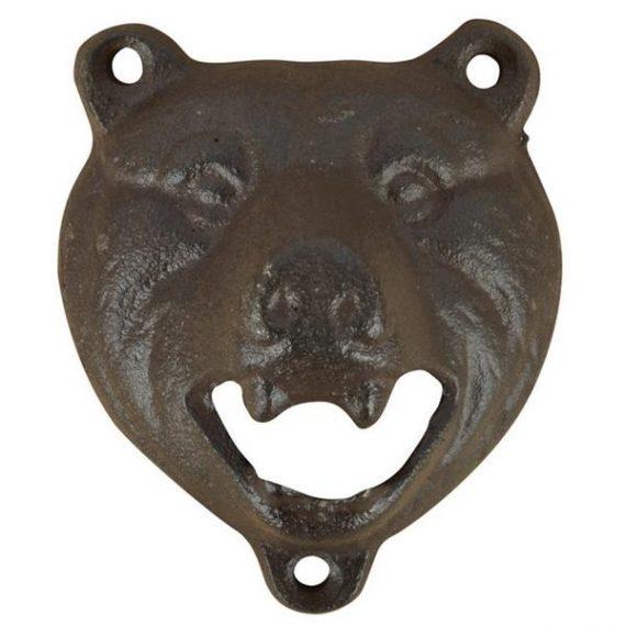 Medvés falra szerelhető üvegnyitó