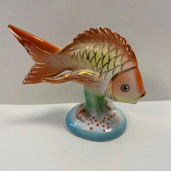 Kézzel festett Hollóházi aranyhal