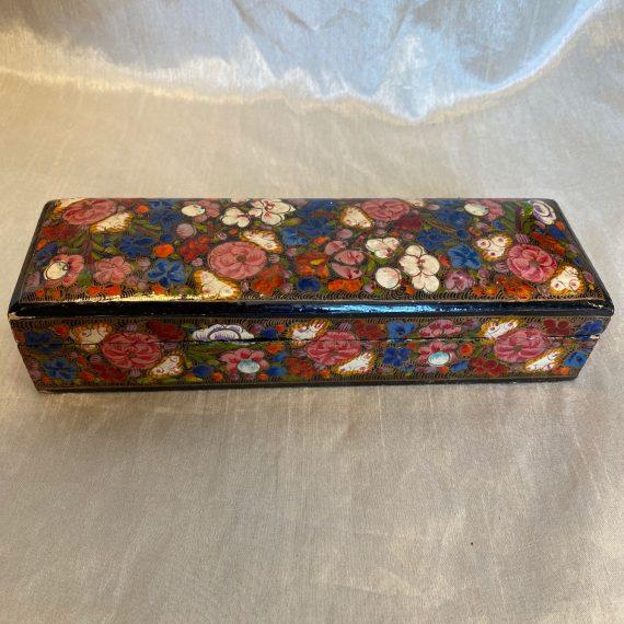 Japán lakk dobozka gyönyörű festéssel