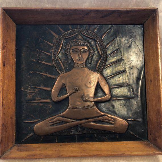 Buddha réz falikép