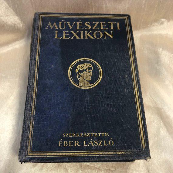 Művészeti lexikon Győrffy K. József dedikálással