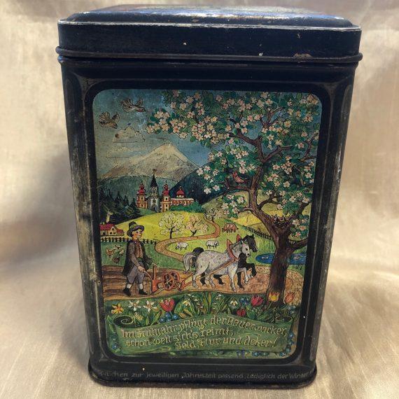 Antik jelenetes sütis doboz