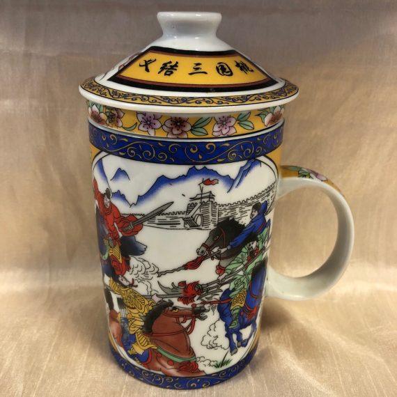 Kínai porcelán teás bögre tetővel